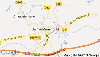 Plan de Sainte-Menehould