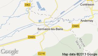 Plan de Sermaize-les-Bains