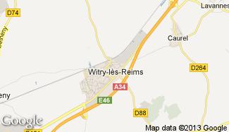 Plan de Witry-lès-Reims