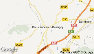 Plan de Breuvannes-en-Bassigny