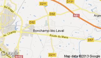 Plan de Bonchamp-lès-Laval