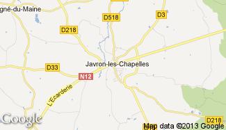 Plan de Javron-les-Chapelles