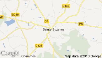 Plan de Sainte-Suzanne