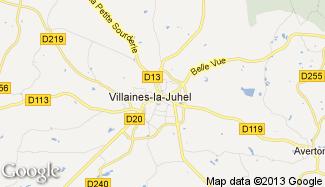 Plan de Villaines-la-Juhel