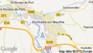 Plan de Dombasle-sur-Meurthe