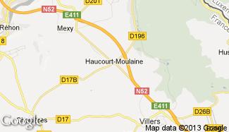 Plan de Haucourt-Moulaine