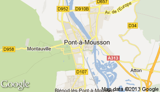 Plan de Pont-à-Mousson