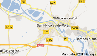 Plan de Saint-Nicolas-de-Port