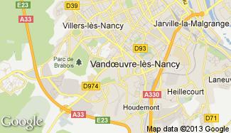 Plan de Vandoeuvre-lès-Nancy