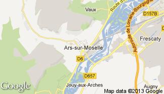 Plan de Ars-sur-Moselle