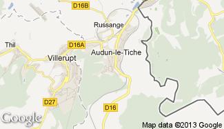 Plan de Audun-le-Tiche