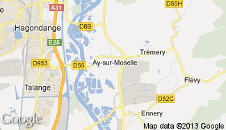 Plan de Ay-sur-Moselle