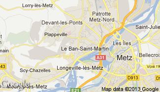 Plan de Le Ban-Saint-Martin