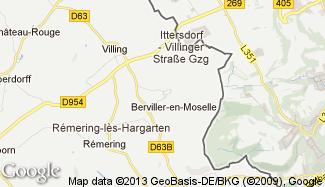 Plan de Berviller-en-Moselle