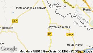 Plan de Beyren-lès-Sierck