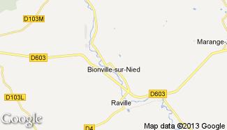 Plan de Bionville-sur-Nied
