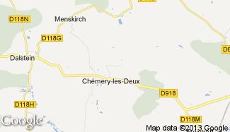 Plan de Chémery-les-Deux
