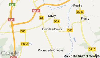 Plan de Coin-lès-Cuvry