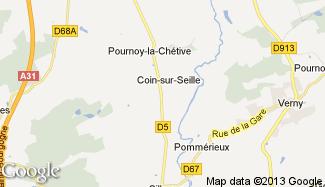 Plan de Coin-sur-Seille