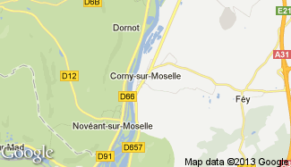 Plan de Corny-sur-Moselle