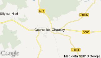 Plan de Courcelles-Chaussy