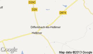 Plan de Diffembach-lès-Hellimer