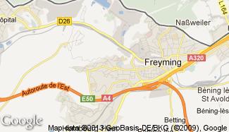 Plan de Freyming-Merlebach