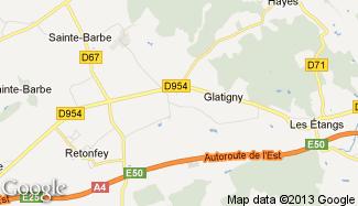 Plan de Glatigny