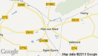 Plan de Han-sur-Nied