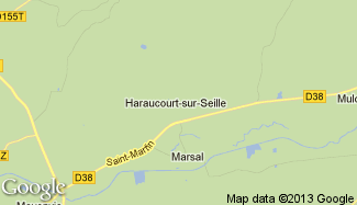 Plan de Haraucourt-sur-Seille