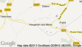 Plan de Hargarten-aux-Mines
