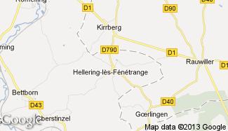 Plan de Hellering-lès-Fénétrange