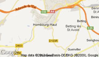 Plan de Hombourg-Haut