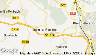 Plan de Lixing-lès-Rouhling
