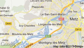 Plan de Longeville-lès-Metz