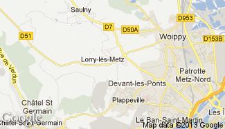 Plan de Lorry-lès-Metz