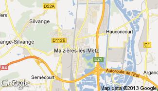 Plan de Maizières-lès-Metz