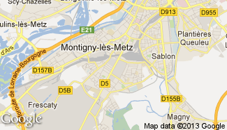 Plan de Montigny-lès-Metz