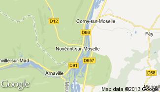 Plan de Novéant-sur-Moselle