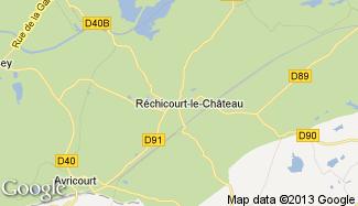 Plan de Réchicourt-le-Château