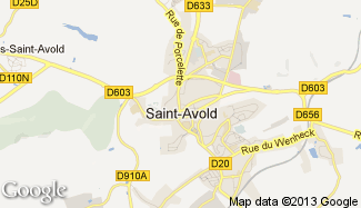 Plan de Saint-Avold