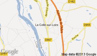 Plan de La Celle-sur-Loire