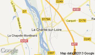 Plan de La Charité-sur-Loire