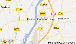 Plan de Cosne-Cours-sur-Loire