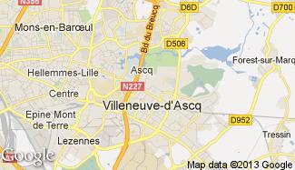 Plan de Villeneuve-d'Ascq