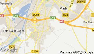 Plan de Aulnoy-lez-Valenciennes