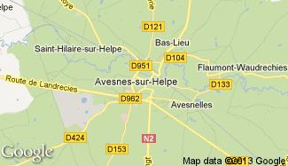 Plan de Avesnes-sur-Helpe