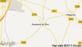 Plan de Avesnes-le-Sec