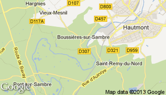 Plan de Boussières-sur-Sambre