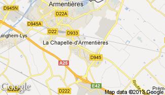 Plan de La Chapelle-d'Armentières